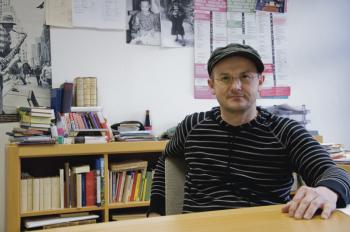 Der Autor Steffen Mensching liest am Montag im Dock Inn Hostel Warnemünde.