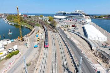 Im Rahmen der Modernisierung des Bahnhofs Warnemünde wird auch der Spurplan verändert.