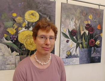 Auch die Malerin Andrea Sroke wird ihre Arbeiten auf dem Kunsthandwerkermarkt in Warnemünde präsentieren.