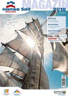 Das Hanse Sail Magazin 2018 ist ab sofort als Printversion sowie als e-paper erhältlich.