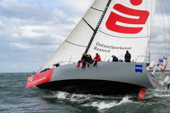 """Die """"Ospa"""" führt bei der Langstreckenregatta Rund Bornholm. Ein neuer Streckenrekord ist denkbar."""