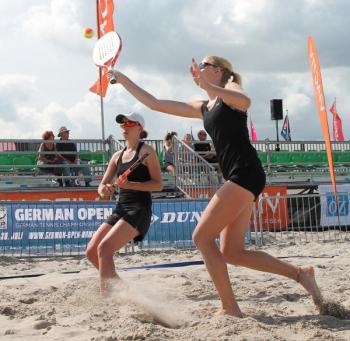 Beach Tennis Weltranglistenturnier am Strand von Warnemünde