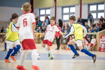 Hier kämpft die aktuelle D2-Jugend des SV Warnemünde Fußball e.V. beim letzten Futsal-Cup – damals noch als E1-Jugend.