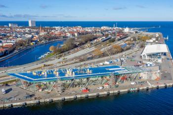 Das Warnemünde Cruise Center 8 (WCC 8) wächst in die Höhe. Wir haben uns auf der Baustelle umgeschaut.
