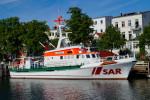 """Auch der Seenotkreuzer """"Arkona"""" wird an der Seenotrettungsübung vor Warnemünde teilnehmen."""