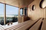 Die Finnische Panorama-Sauna im Neptun Spa wird im Zuge der Modernisierung vergrößert. Foto: Hotel Neptun