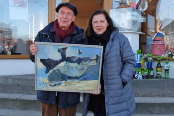 Wolfgang Reinke, hier mit Partnerin Vera Schwelgin, liebt die Küste. Diese Liebe spiegelt sich in seinen Werken wieder.