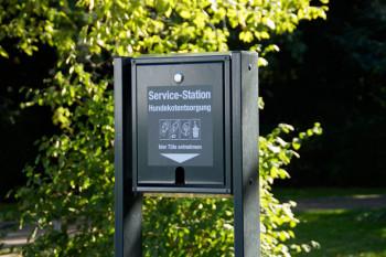 Hunde Service-Station im Warnemünder Kurpark