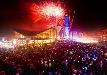 Warnemünder Turmleuchten - das Neujahrsevent im Ostseebad Warnemünde, Foto: Holger Martens